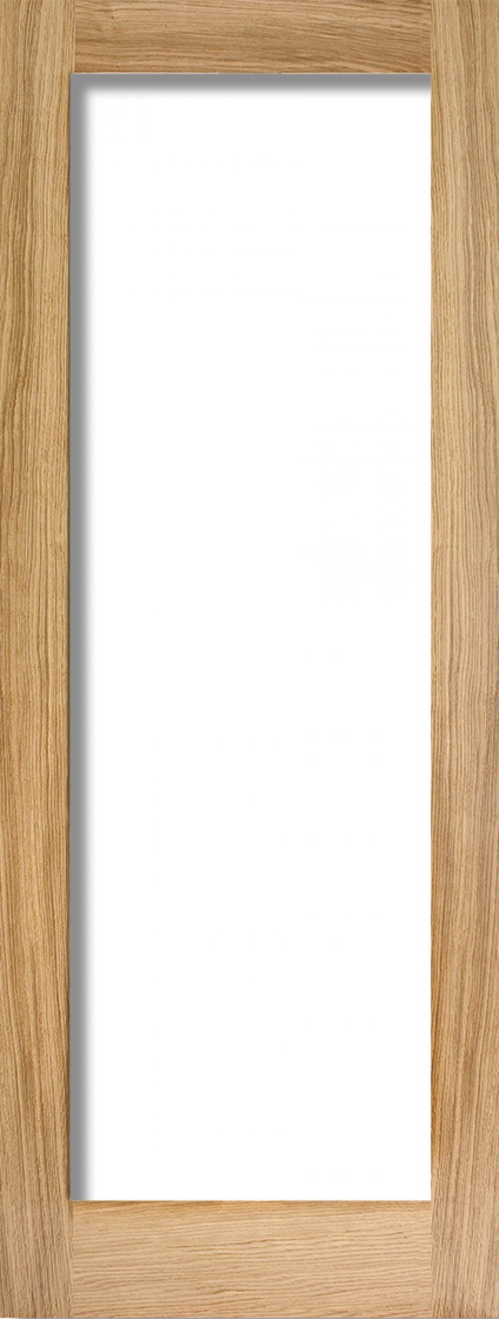 Glazed Oak P10 Fire Door - Clear Glass Image