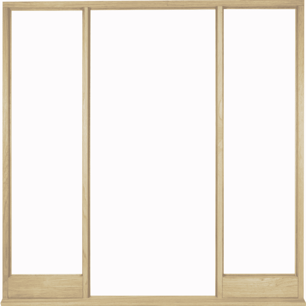 Solid Oak Vestibule Frame For Direct Glazing - Exterior Image