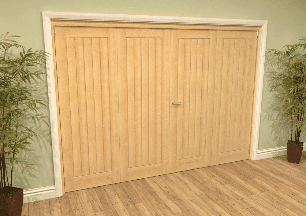 Mexicano Oak French Folding Room Divider Image