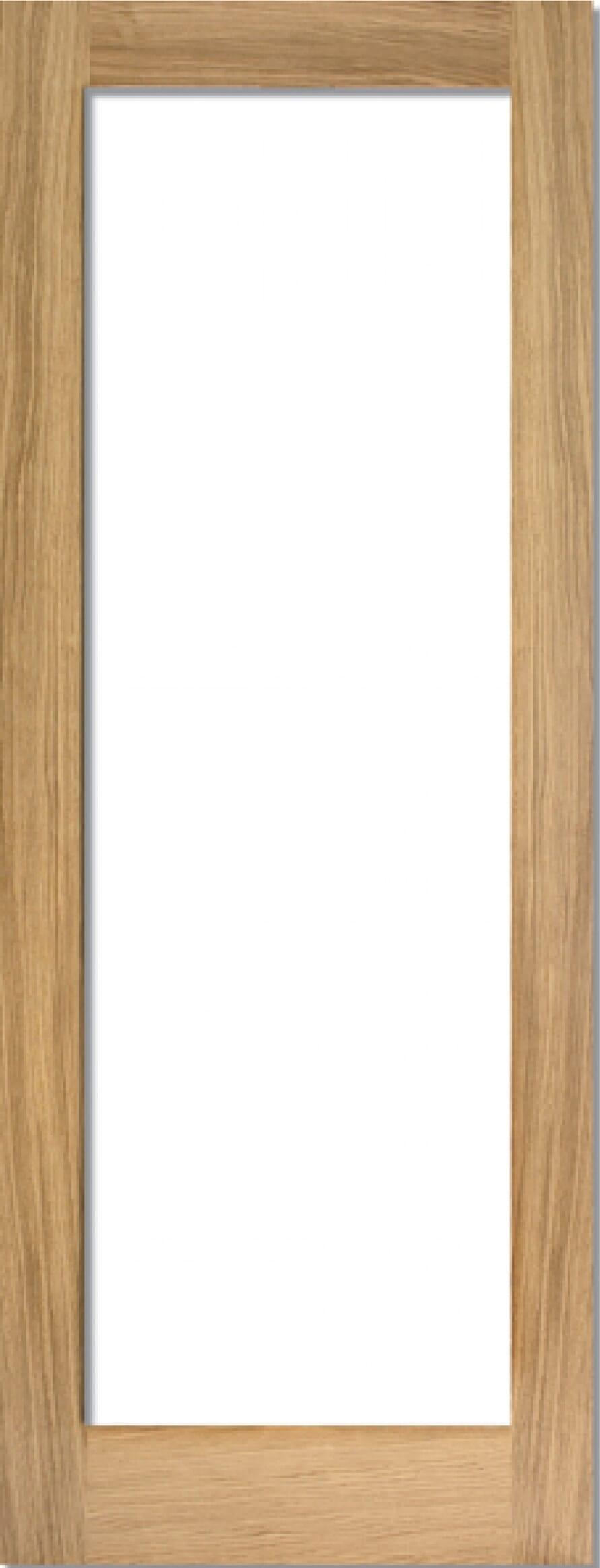 Oak Shaker 1 Light - Prefinished Clear Image