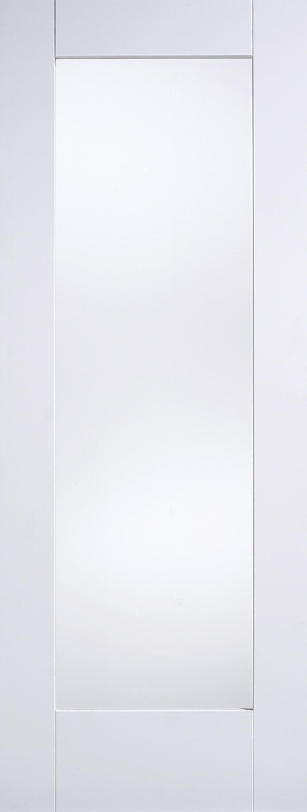 Glazed White P10 Fire Door - Clear Glass Image