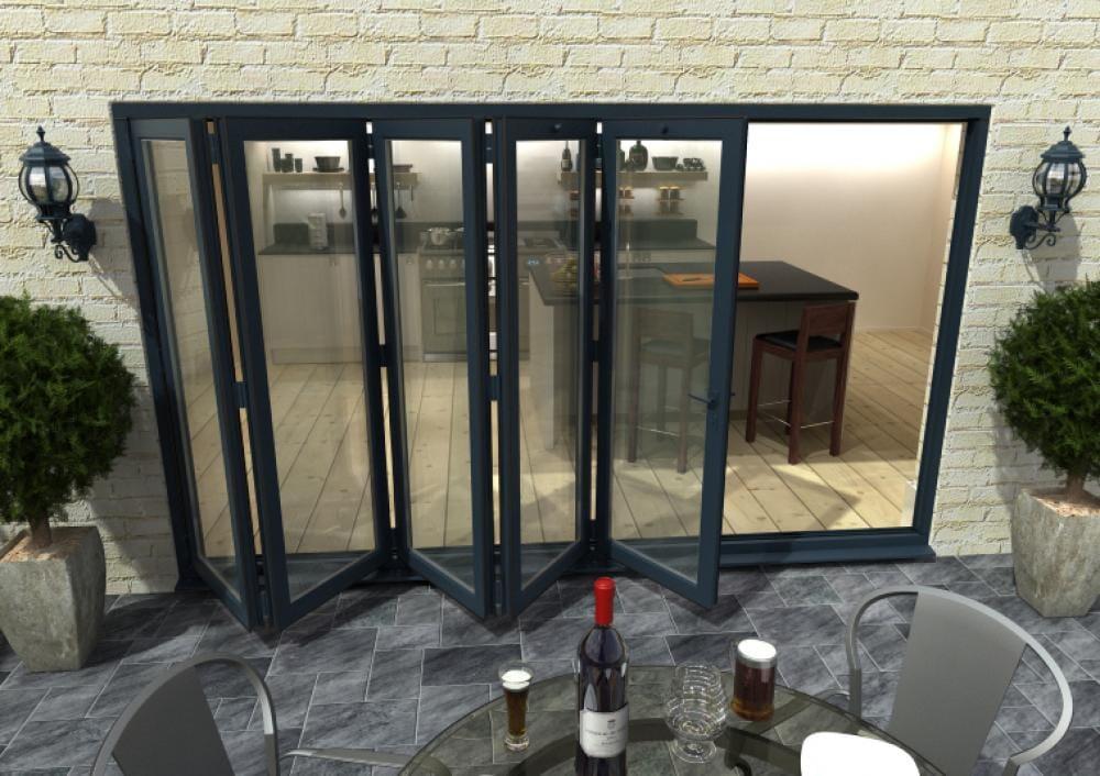 Climadoor Grey Aluminium Bifolding Patio Doors Image