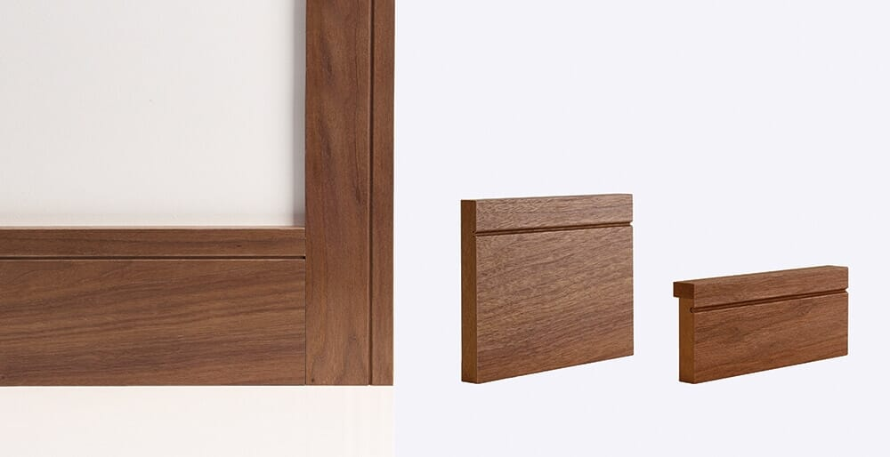 Walnut Shaker Door Lining Skirting & Architrave Image