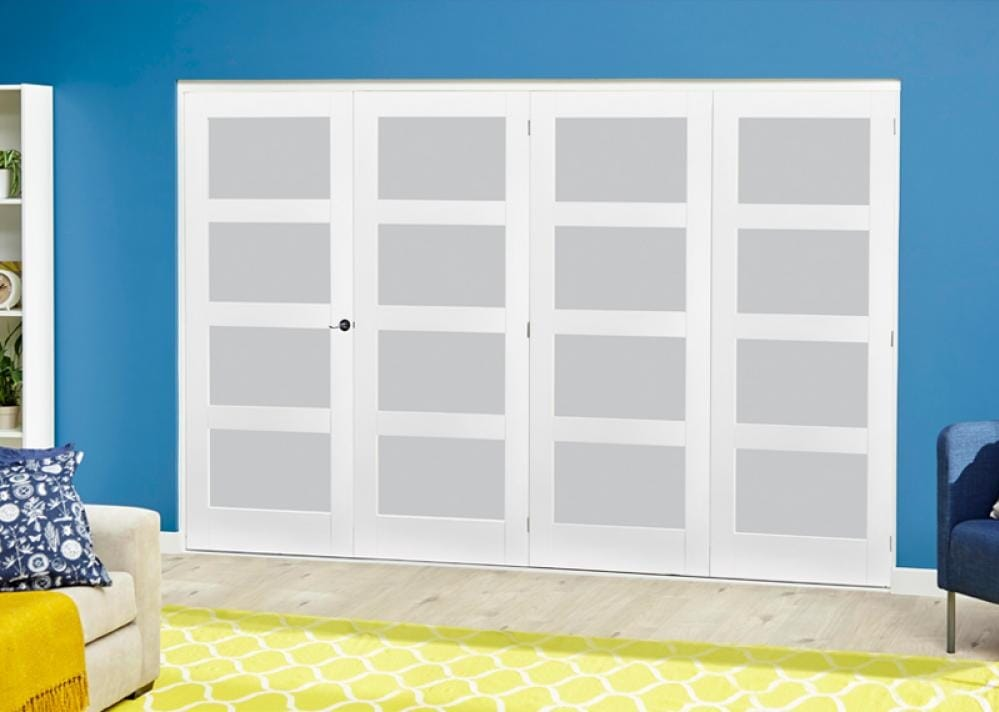 White 4l Roomfold Deluxe - Frosted Glass Image