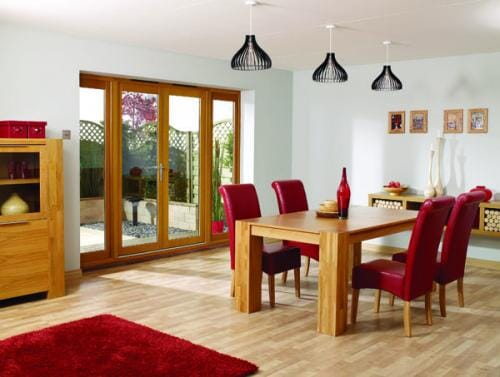 NUVU OAK - 3000mm (10ft) French Doors with Sidelights