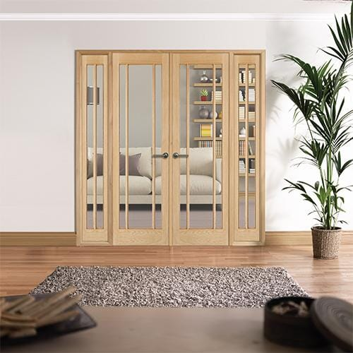 W6 Lincoln Oak Interior French Doors