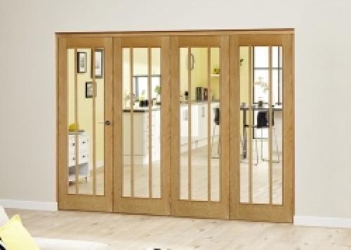 Lincoln Oak Roomfold Deluxe ( 4 x 610mm doors)