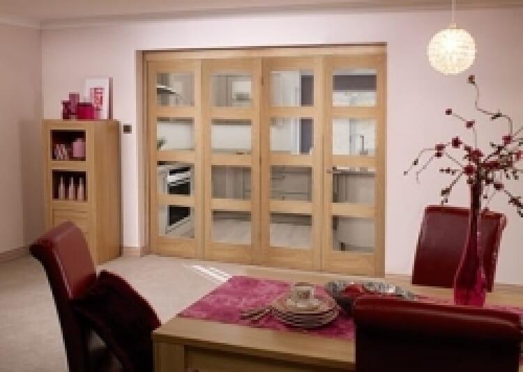 Oak Prefinished 4 Light Bifold Door (2400mm - 8ft) Set Image