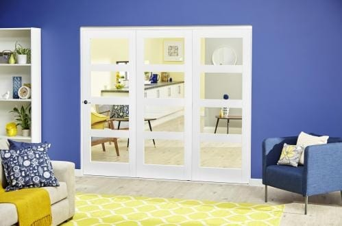White 4L Roomfold Deluxe ( 3 x 686mm doors )