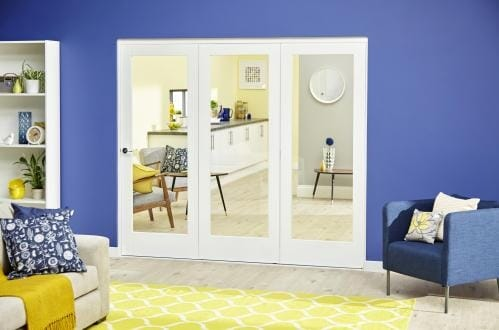 White P10 Roomfold Deluxe ( 3 x 686mm doors )