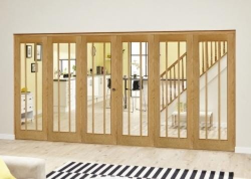 Lincoln Oak Roomfold Deluxe ( 3 + 3 x 610mm doors)