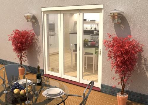 Climadoor Classic White Folding door 2100mm