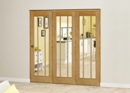 Lincoln Oak Roomfold Deluxe ( 3 x 686mm doors)