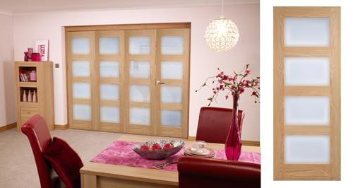 Oak PRE FINISHED 4L Roomfold 2400mm ( 8ft ) System