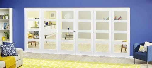 White 4L Roomfold Deluxe ( 3 + 3 x 610mm doors )