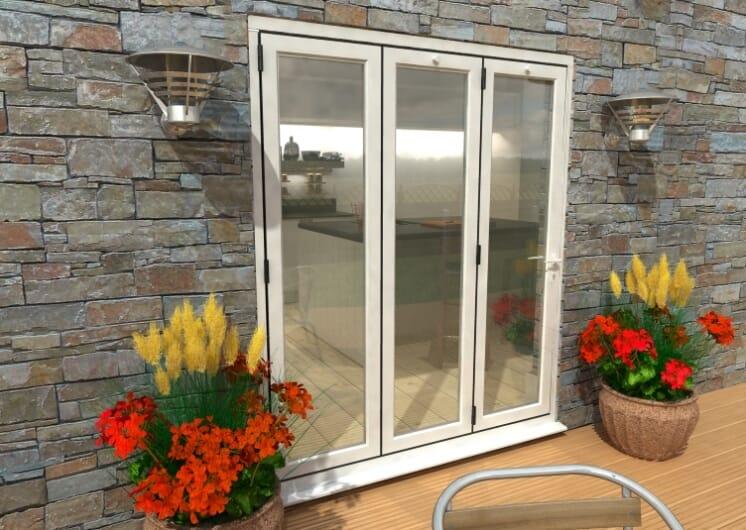 1800mm White Aluminium Bifold Doors - Climadoor Image