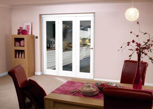 White Bifold 3 Door System 1800mm Set