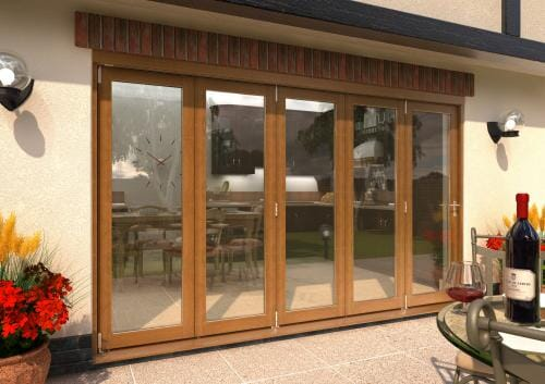 ClimaDoor 3600mm (12ft) Solid OAK Sliding Folding door
