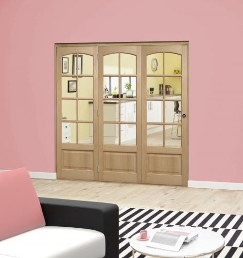 Worthing Oak Roomfold Deluxe ( 3 x 610mm doors )