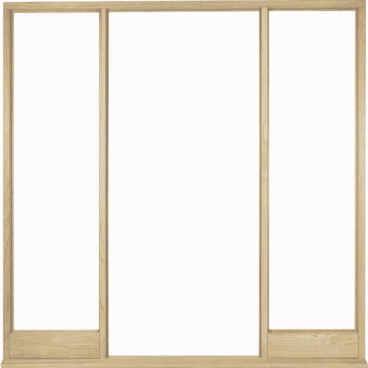 Universal Oak Vestibule Frame For Direct Glazing Image