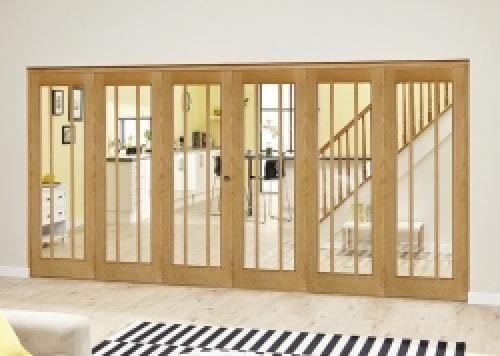 Lincoln Oak Roomfold Deluxe ( 3 + 3 x 686mm doors)