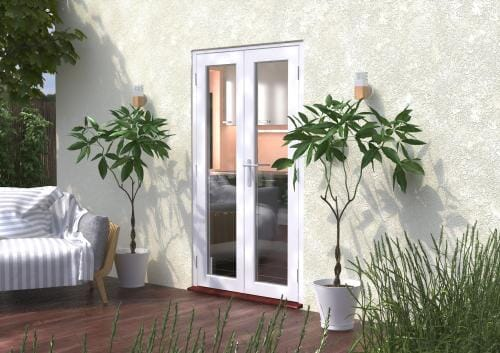 1200mm (4ft) Classic White French Doors