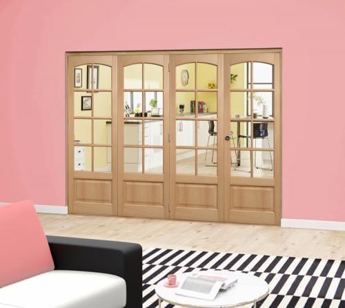 Worthing Oak Roomfold Deluxe (4 x 610mm doors)