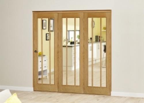 Lincoln Oak Roomfold Deluxe ( 3 x 762mm doors)
