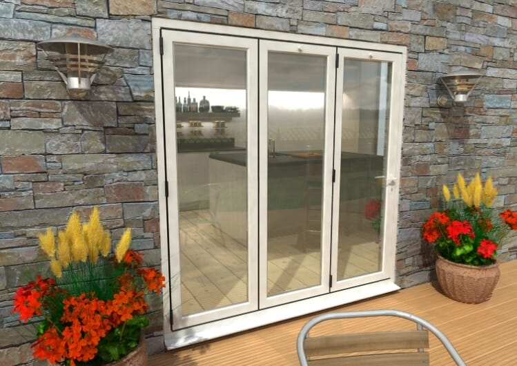 2100mm White Aluminium Bifold Doors - Climadoor Image