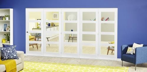 White 4L Roomfold Deluxe ( 5 x 686mm doors )