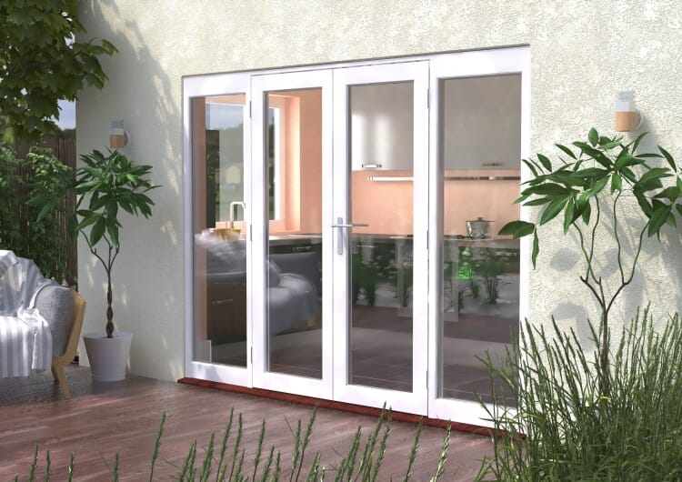 2700mm (9ft) Classic French Doors - 1500 Pair With 2 X 600mm Sidelights Image