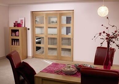Shaker 4 light 3 Door Roomfold (3 x 2