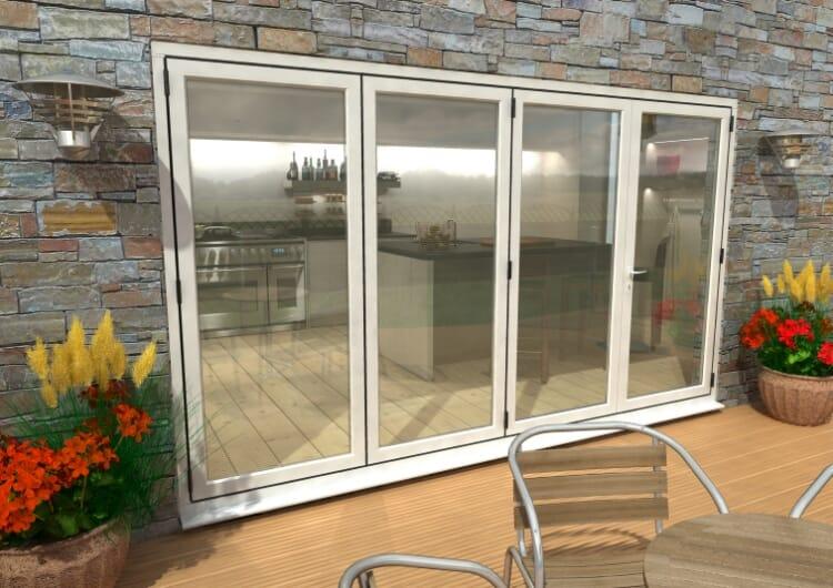 3600mm ( 3 + 1 ) White Aluminium Bifold Doors - Climadoor Image