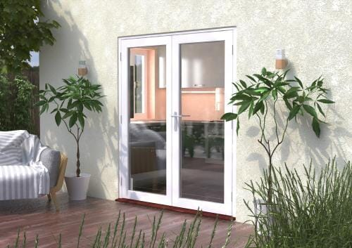 1800mm (6ft) Classic White French Doors