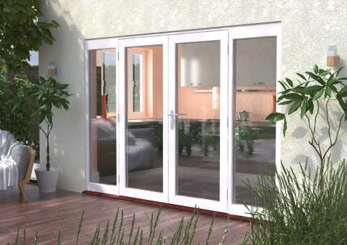 3000mm (10ft) Classic French Doors - 1800 Pair + 2 x 600mm Sidelights