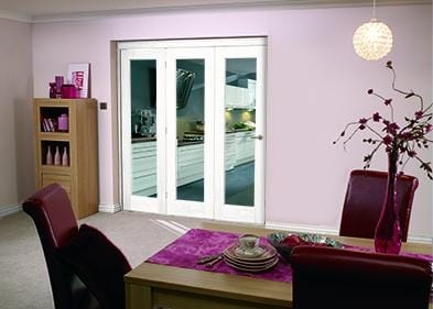 "White Bifold 3 door system ( 3 x 24"" doors )"