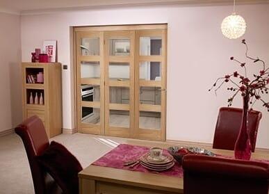 Shaker 4 light 3 Door Roomfold (3 x 1