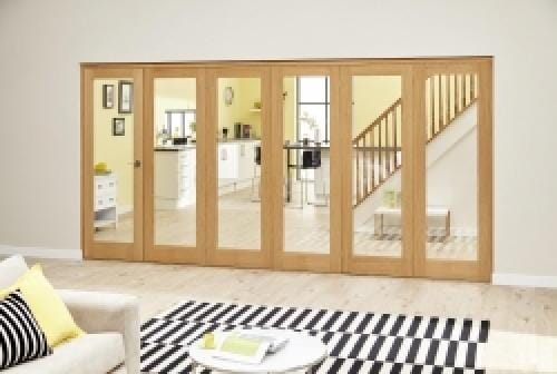 Oak P10 Roomfold Deluxe (5 + 1 x 610mm doors)