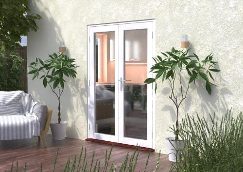 1500mm (5ft) Classic White French Doors