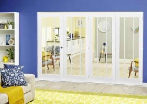 Lincoln White Roomfold Deluxe ( 4 x 762mm doors)