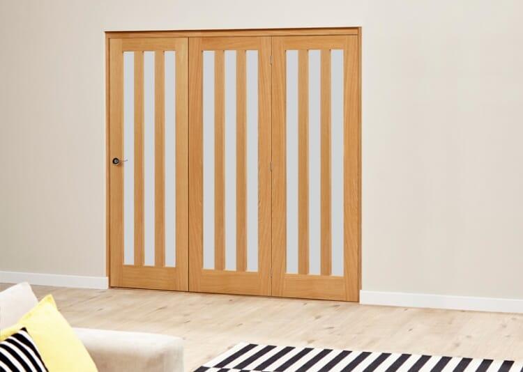 Aston Frosted- 3 Door Roomfold Deluxe (3 X 686mm Doors) Image
