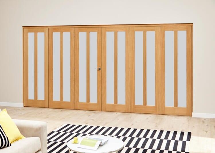 Aston Frosted- 6 Door Roomfold Deluxe (3 + 3 X 610mm Doors) Image
