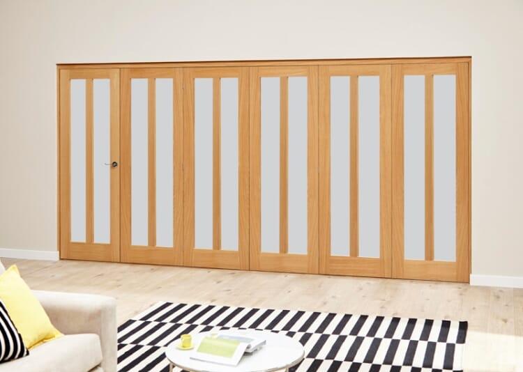 Aston Frosted- 6 Door Roomfold Deluxe (5 + 1 X 610mm Doors) Image