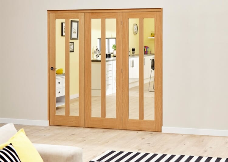 Aston Oak - 3 Door Roomfold Deluxe (3 X 610mm Doors ) Image