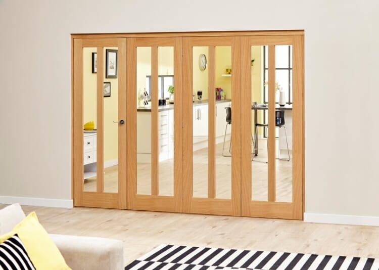 Aston Oak - 4 Door Roomfold Deluxe (4 X 610mm Doors) Image