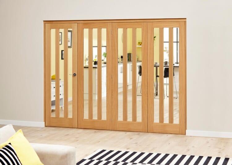 Aston Oak - 4 Door Roomfold Deluxe (4 X 686mm Doors) Image