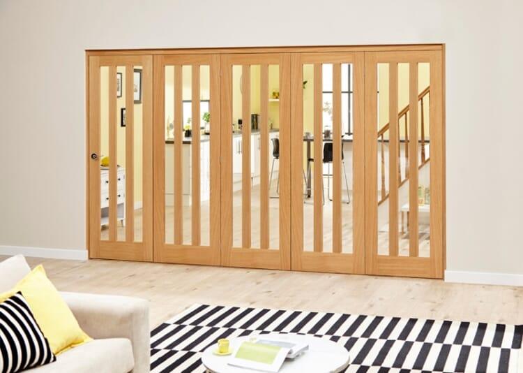 Aston Oak - 5 Door Roomfold Deluxe (5 X 686mm Doors) Image