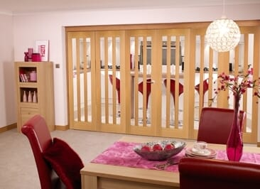 Aston Oak - 6 Door Roomfold (3+3 X 2