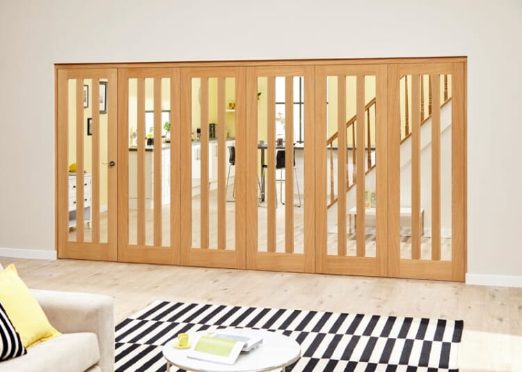 Aston Oak - 6 Door Roomfold Deluxe (5 + 1 X 686mm Doors) Image