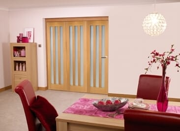 Aston Oak Frosted - 3 Door Roomfold (3 X 2